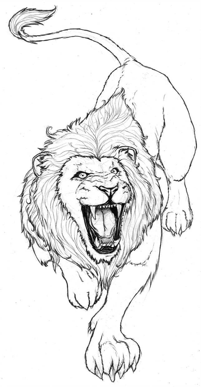 Lion By Franja2190 絵の書き方 描き方タトゥーデザインタトゥー