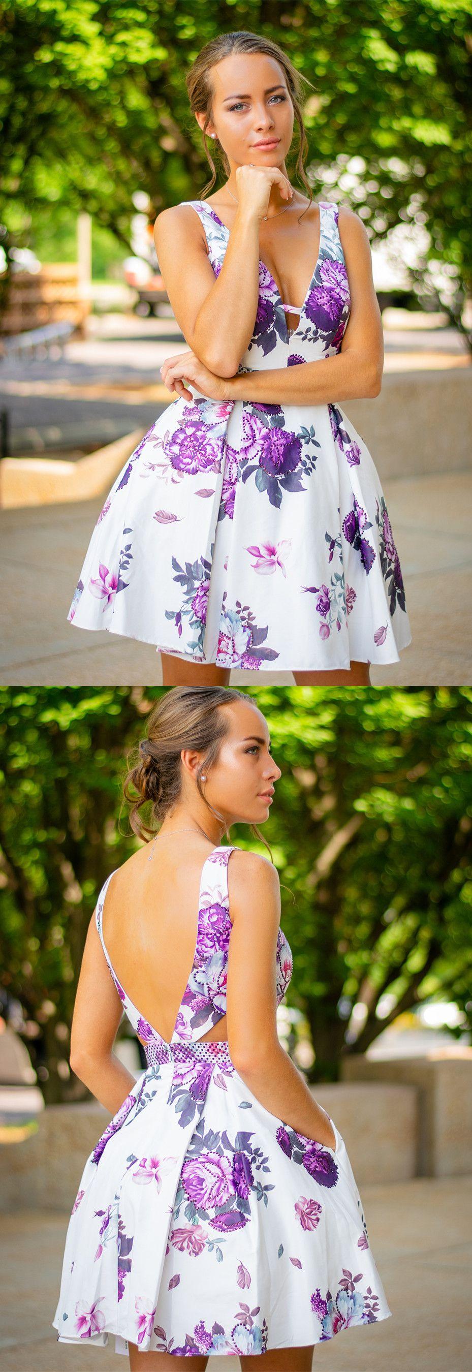 Short floral homecoming dresses homecoming dresses homecoming