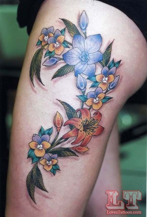 Sexy upper leg tattoos for women