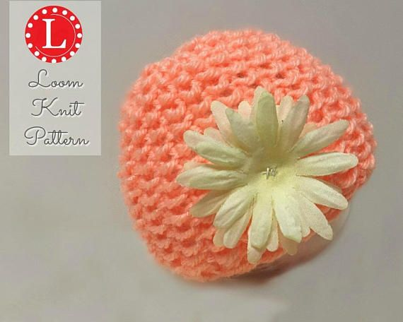 Loom Knitting Pattern Newborn Baby Hat Seed Stitch With Video