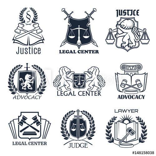 Law Firm Lawyer Office Legal Center Icon Design Kartvizit