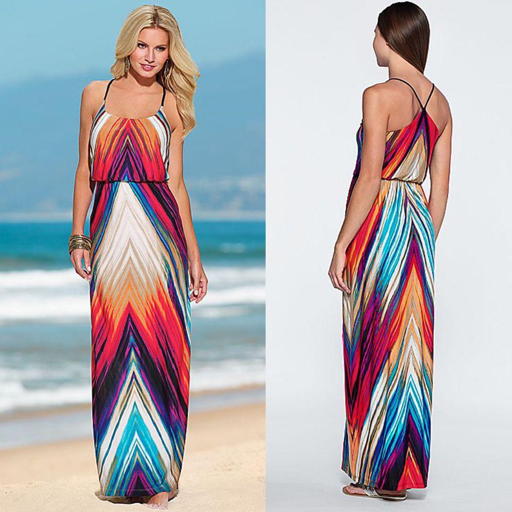 Click to buy ucuc mxl summer style sexy women boho long dress