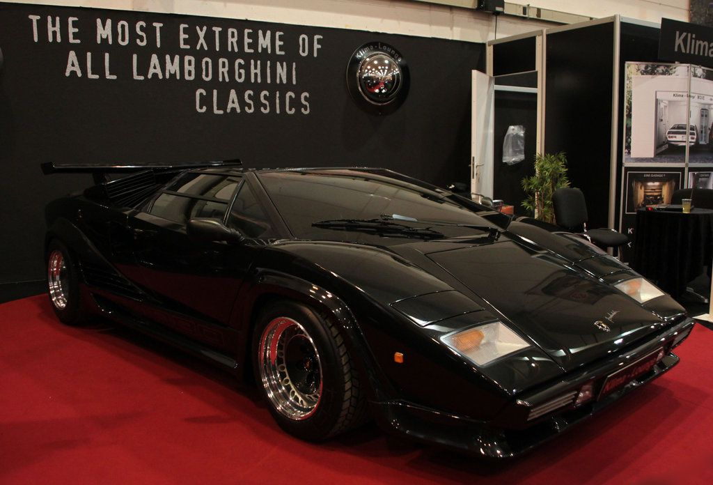 Black Countach By The Car Gallery