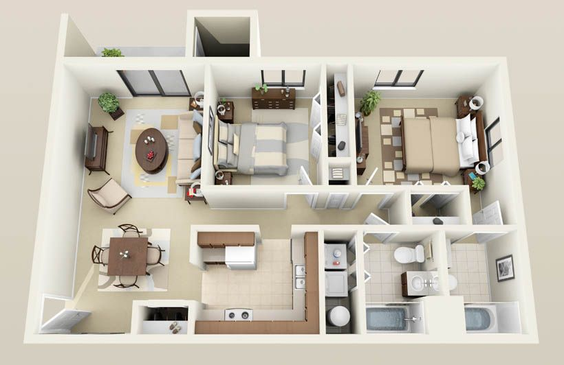 Two Bedroom Apartment Layout Google Search HousesApartments Fascinating How Much Is Rent For A 2 Bedroom Apartment Model Plans