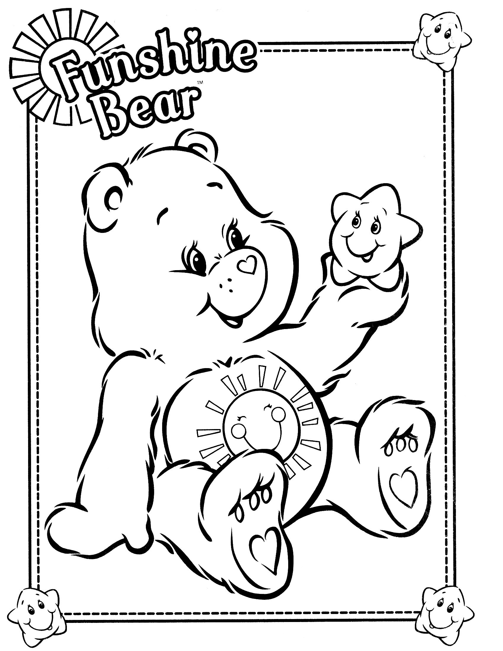 Care Bears Coloring Page Bear Coloring Pages Coloring Books