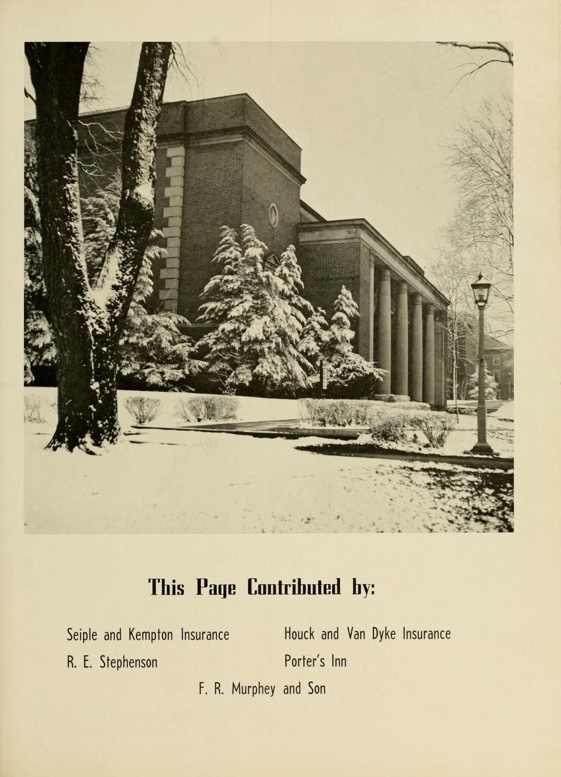 Athena Yearbook 1952 Ohio University Archives With Images