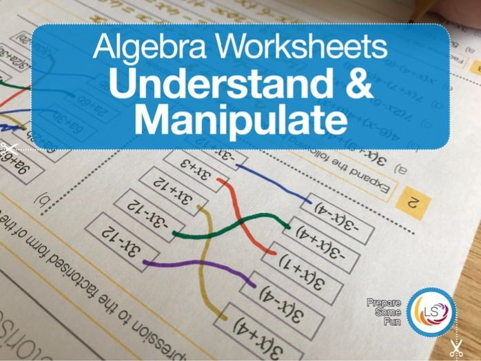 Algebra Worksheets: Collecting terms, expand and factorise ...