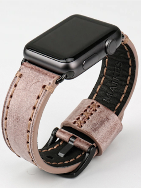 Apple Watch Leder Armband Echtleder Naturleder Handgefertigt Apple Watch Series 1 2 3 4 Bridle Leder Braun Armband Leder Leder Armband