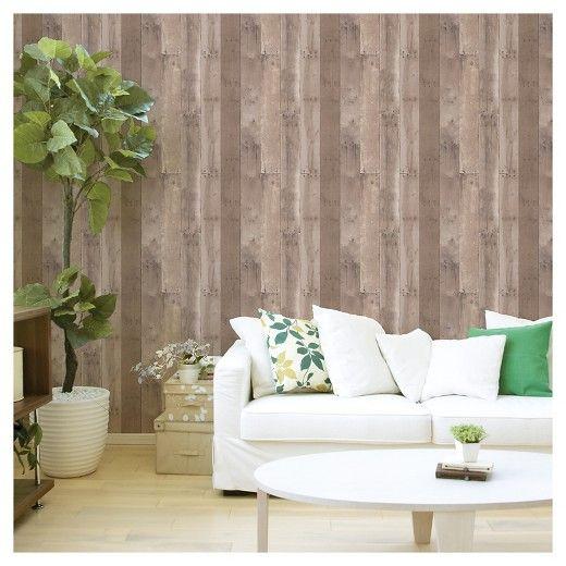 Reclaimed Wood Peel Stick Wallpaper Brown Threshold Reclaimed Wood Peel And Stick Wallpaper Buy Reclaimed Wood