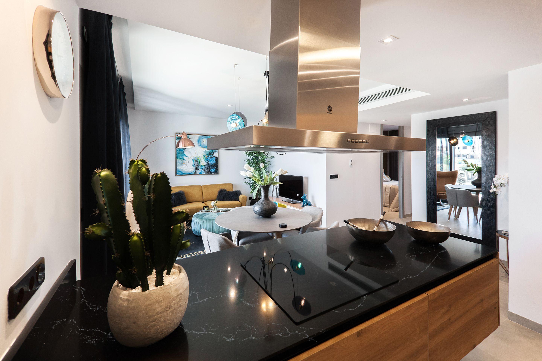 Noir Blanc Kitchen Countertop Kitchen Design Living Room Kitchen Free Kitchen Design