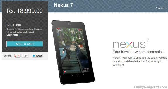 Google Nexus 7 32GB wi-Fi goes on sale from Google Play Store in India for Rs.18,999