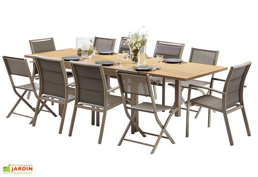 Salon De Jardin Polywood Table Extensible 6 Fauteuils 4