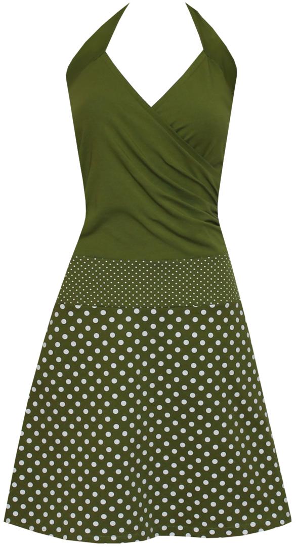 neckholderkleid enia dots allover in 2020  kleider