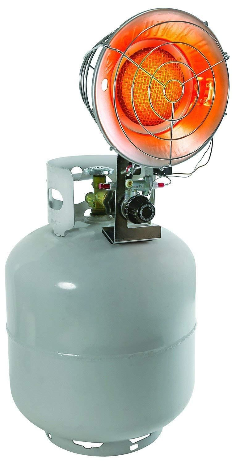 Comfort zone single burner tank top propane heater air