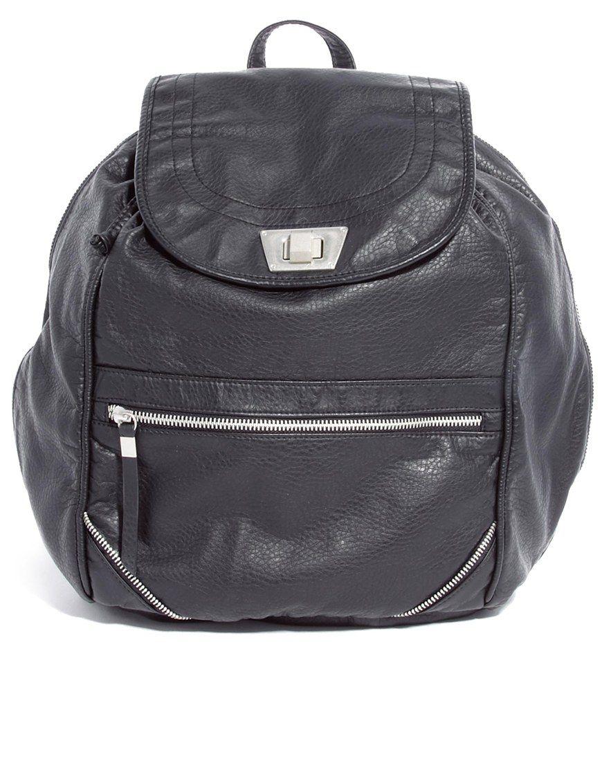 Image 1 ofNew Look Billie Twist Lock Backpack