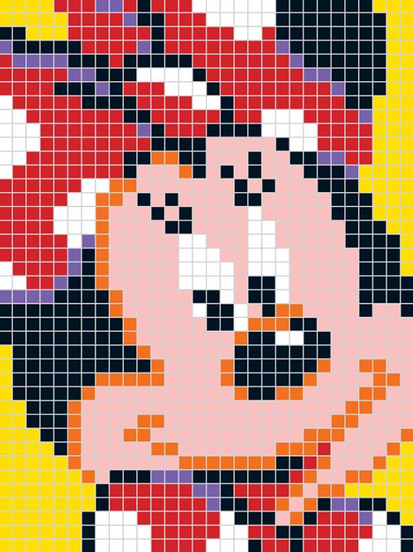 Pixel Disney   Quercetti   mickey e minie   Pinterest   Deckchen ...