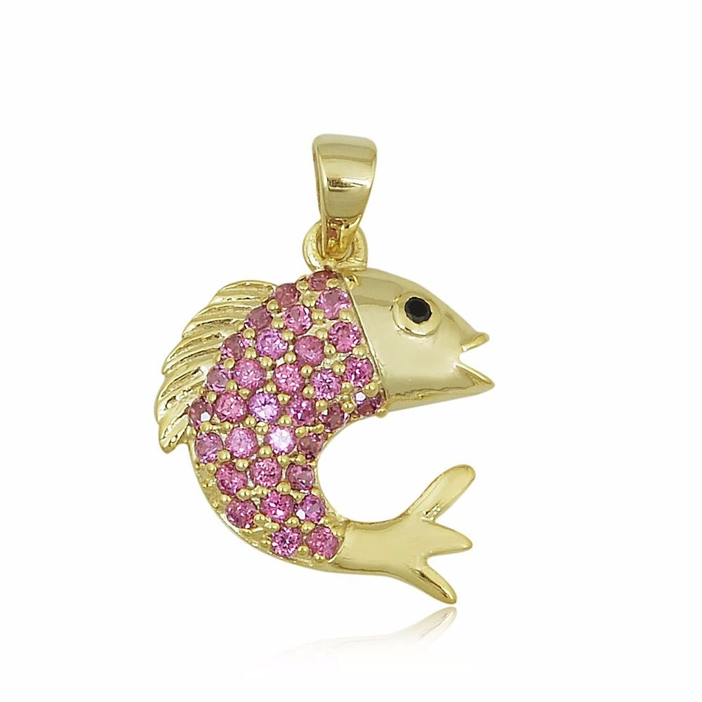 Natural Rhodolite Garnet Yellow Gold Plated Sterling Silver Dolphin Pendant #Unbranded #Pendant #Christmas
