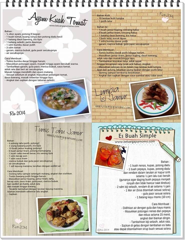 Ayam Kuah Tomat Tumis Tahu Jamur Lumpia Isi Jamur Es Buah Simple Makanan Makanan Sehat Resep Makanan