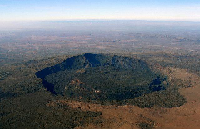 Rift Valley, Kenya And Volcano