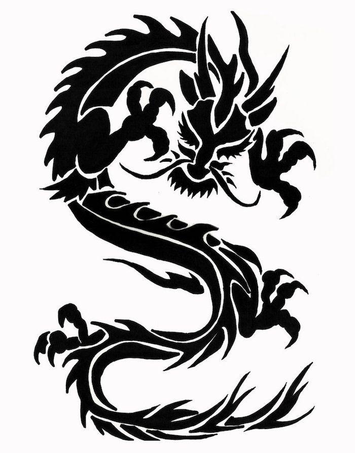 1001 + Ideen und Bilder zum Thema Drachen Tattoo | Drachen