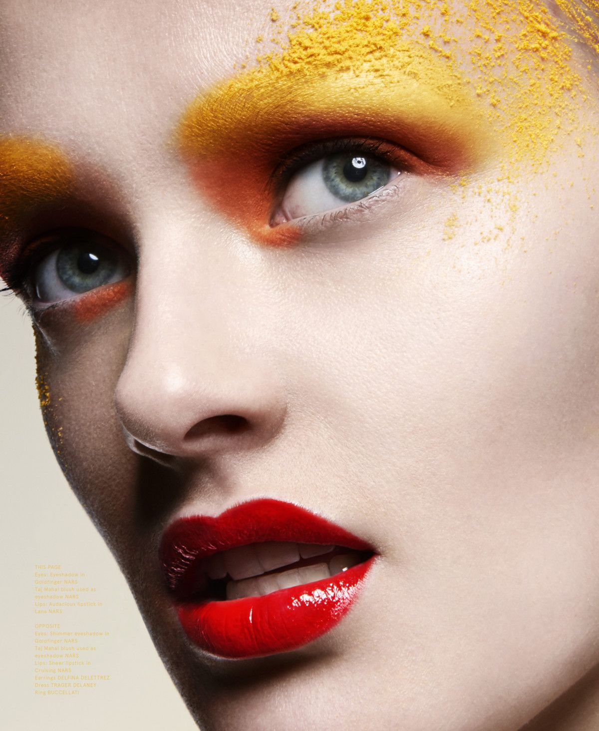 Beauty Volt Orange Eyeshadow Yellow Eyeshadow Red Lips Vivien