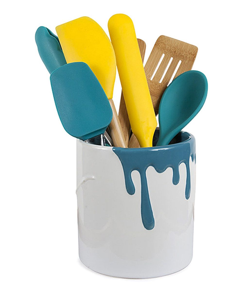 Look at this Teal Paint Bucket Utensil Holder on #zulily today ...