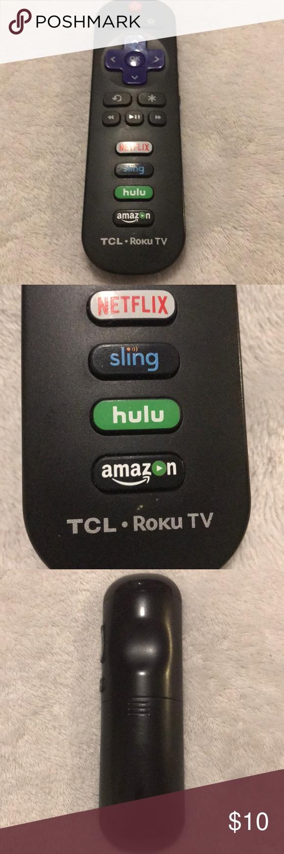 Sharp TCL Roku Smart TV Remote (With images) Roku, Smart