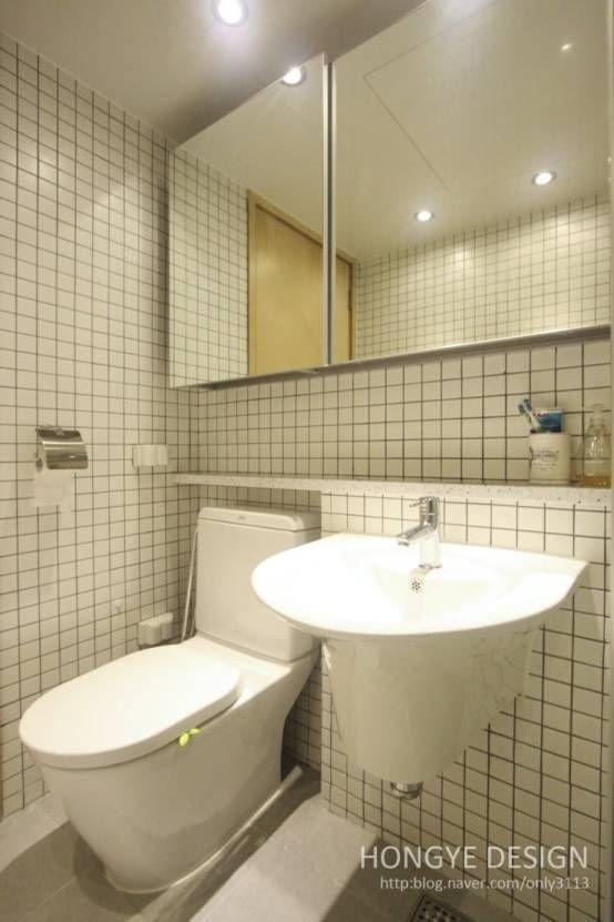 욕실에 다양한 캐릭터를 불어넣는 타일 인테리어  욕실, 화장실 ...