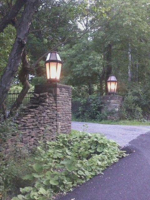 A Really Pretty Driveway Entrance In My Neighborhood