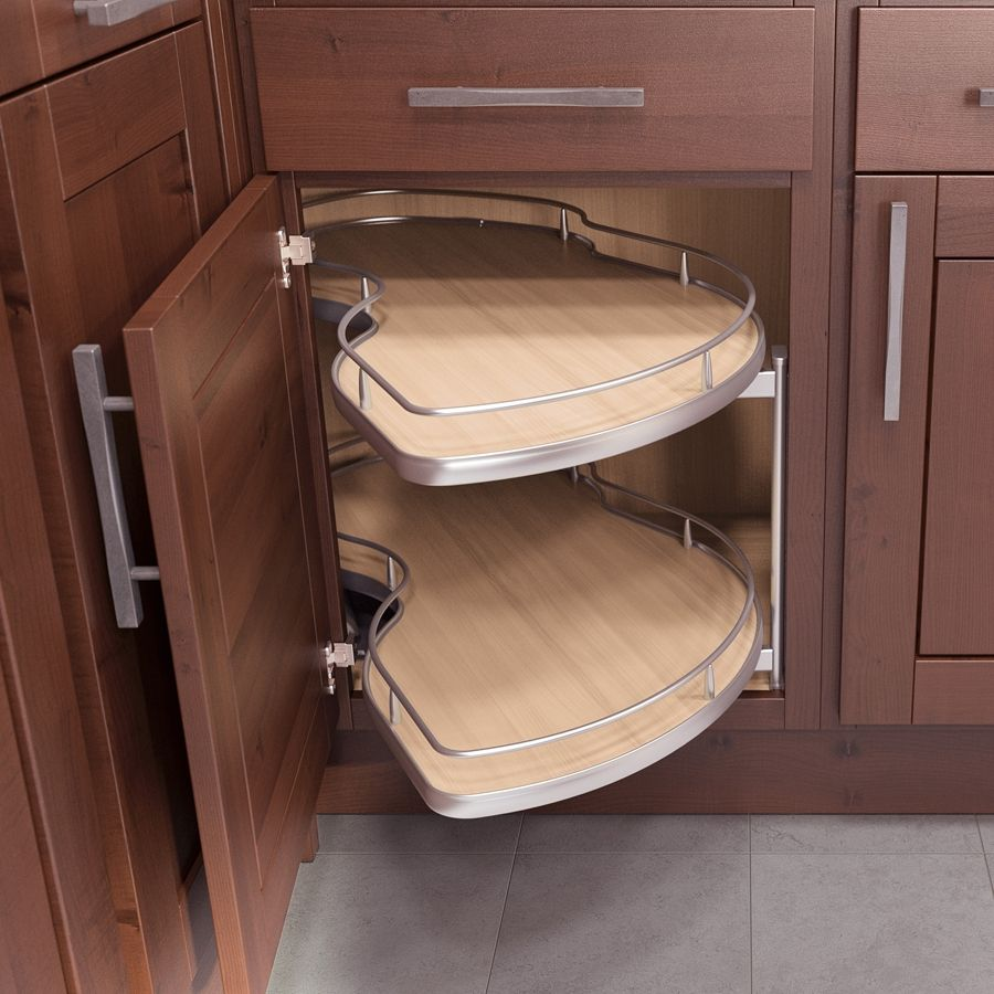 "Kitchen Furniture Corner: Twin Corner 2 Blind Corner Pull-Out 45"" W"