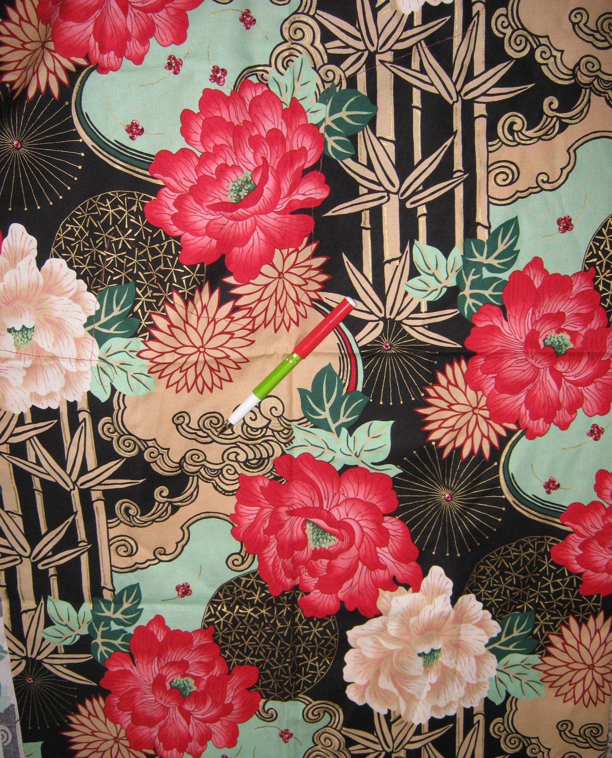Commit Asian print oilcloth