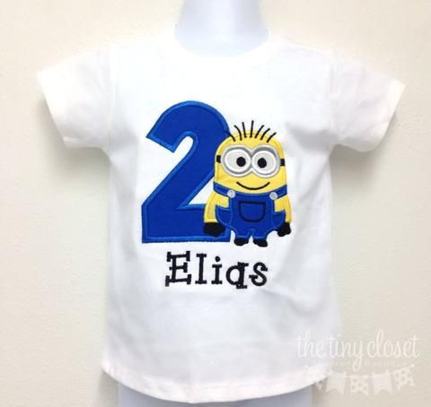 Personalized Minion Birthday Design
