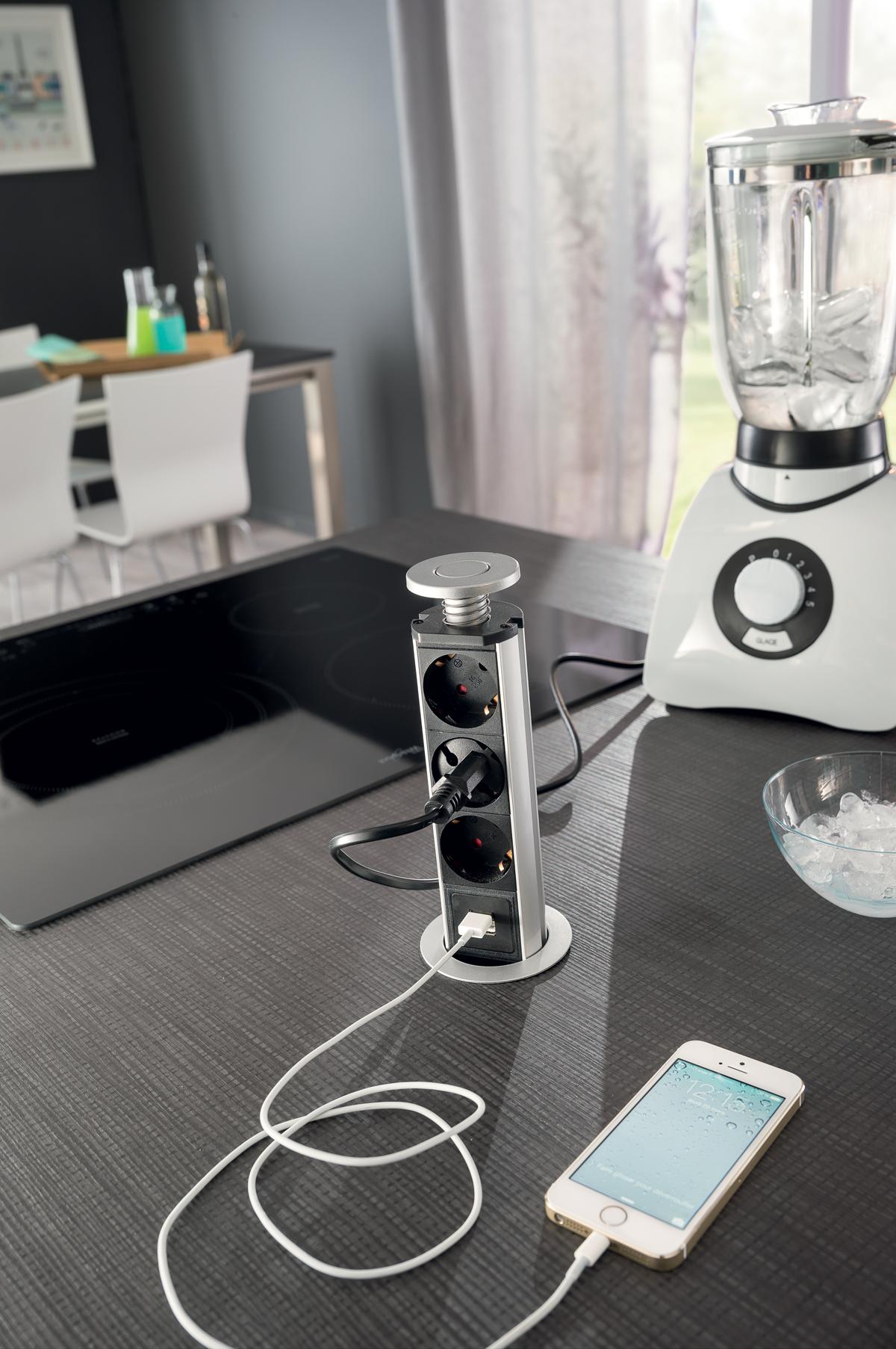 prise de courant ilot cuisine. Black Bedroom Furniture Sets. Home Design Ideas