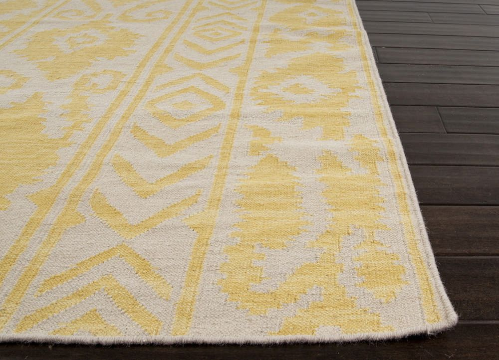 Jaipur Rugs Flat Weave Tribal Pattern Gold And