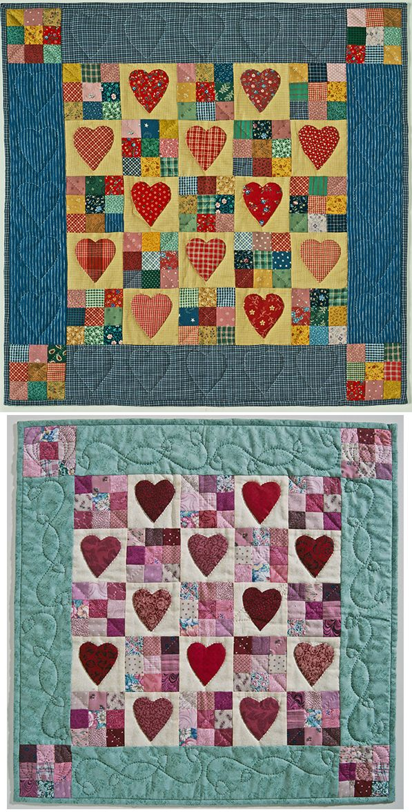 Heart's Delight pattern by Sylvia Johnson.  Wall hanging pattern at American Patchwork & Quilting.
