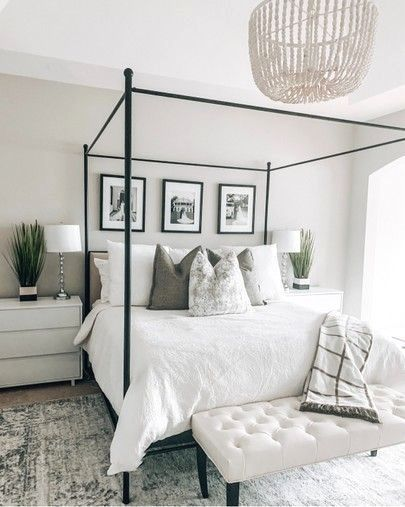 Black And White Transitional Bedroom Inspiration Bedroom Inspirations Home Decor Bedroom Transitional Bedroom