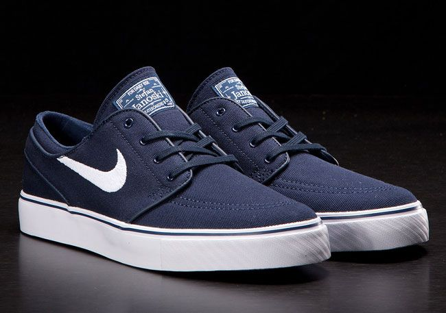 ca7e96e4dde1 Nike SB Stefan Janoski Canvas Navy White Upper (Available Now ...