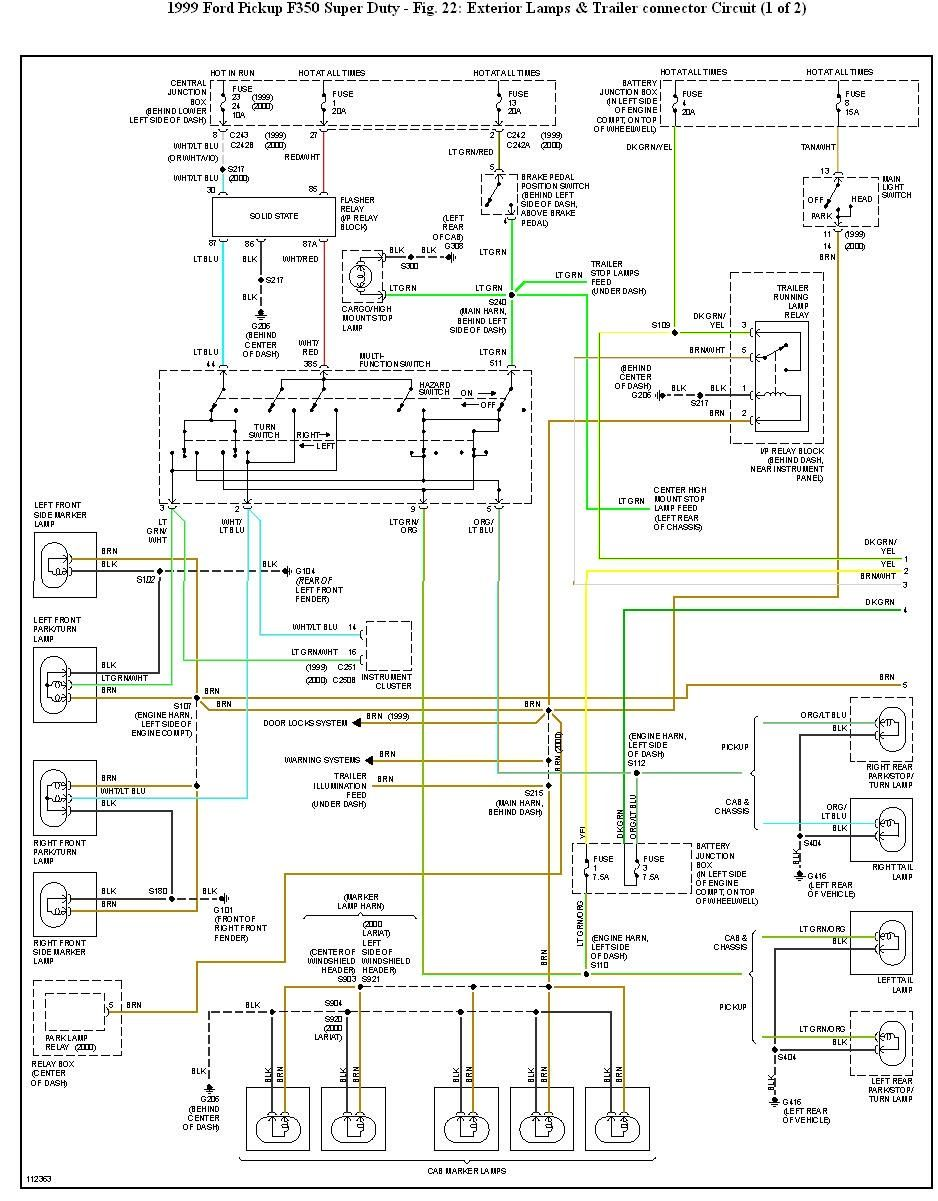 F 350 Wiring Diagram | Diagram, Trailer wiring diagram, Electrical wiring  diagram | Ford F350 Super Duty Wiring Diagram |  | Pinterest