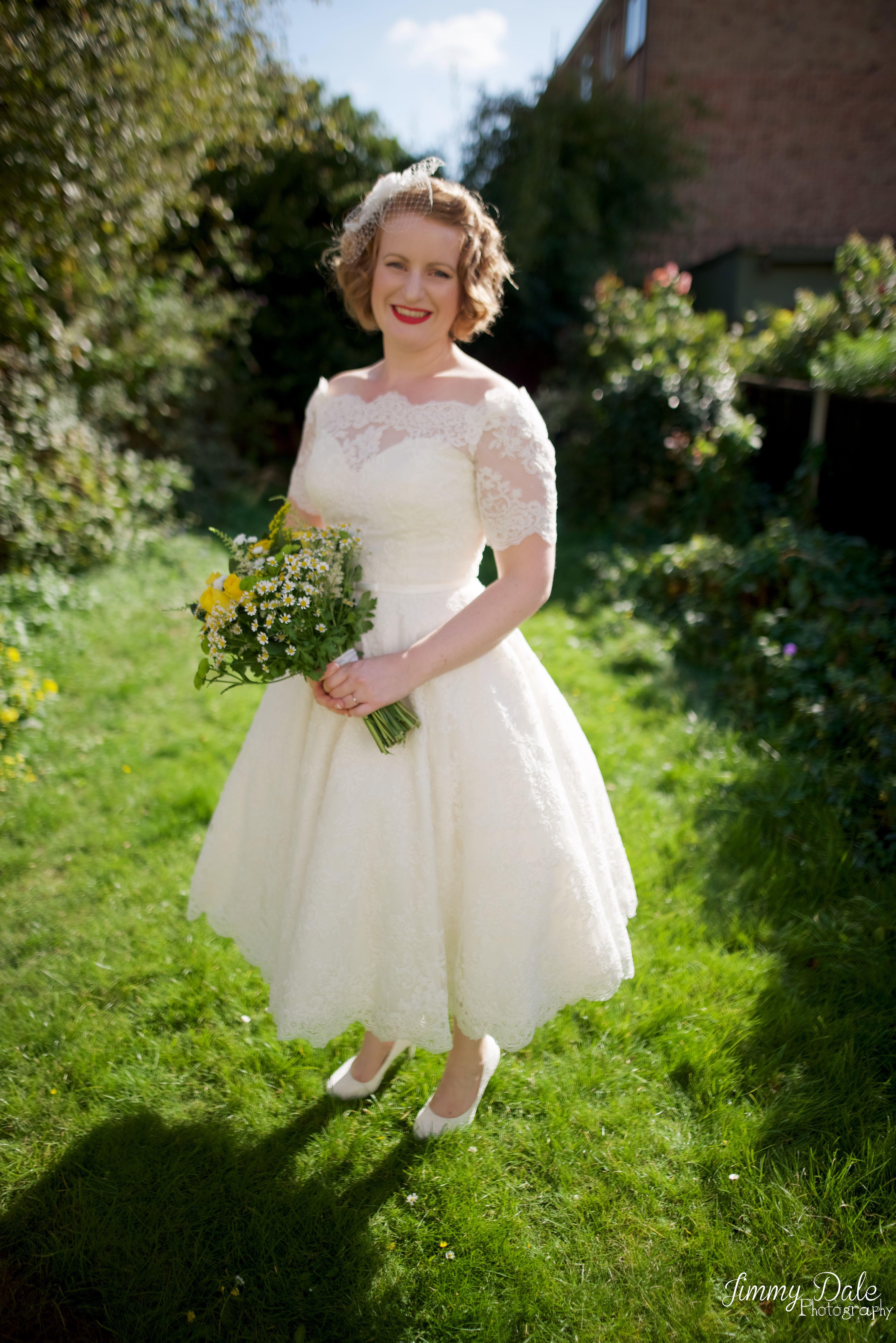 Ivory Loulou Tea Length Wedding Dress size 14