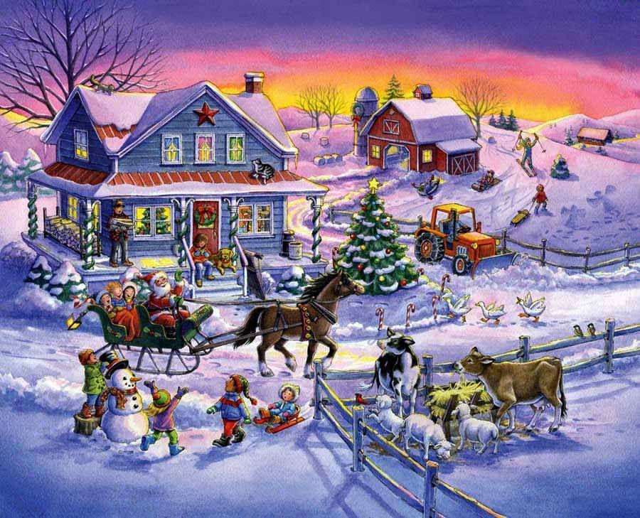 postales navidad Christmas Art Christmas, Christmas jigsaw
