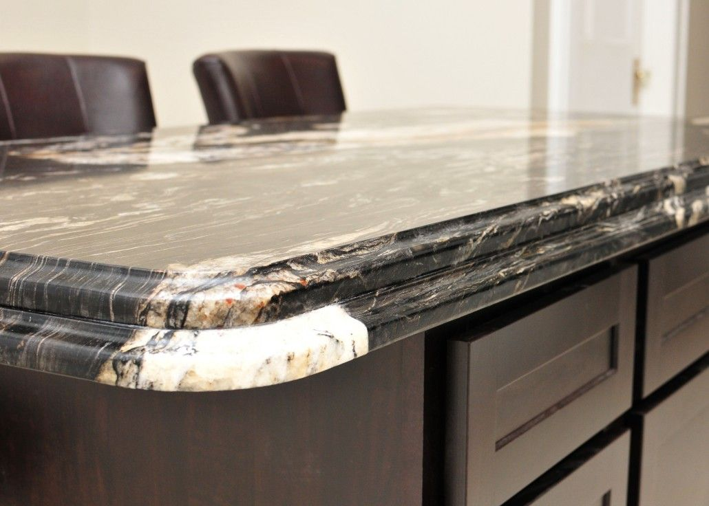 Laminated Double Ogee Granite Countertop Edge profile