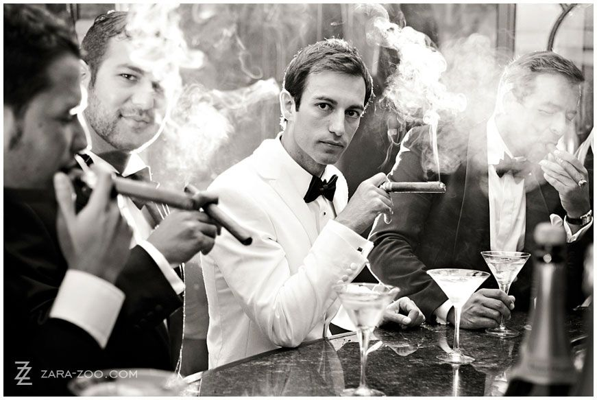 cool photo of the guys at the wedding with cigars from photographer ZARA ZOO Val_de_Vie_Wedding_032