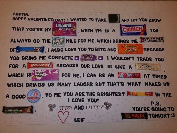 creative candy sayings Google Search Crafty – Candy Valentine Card