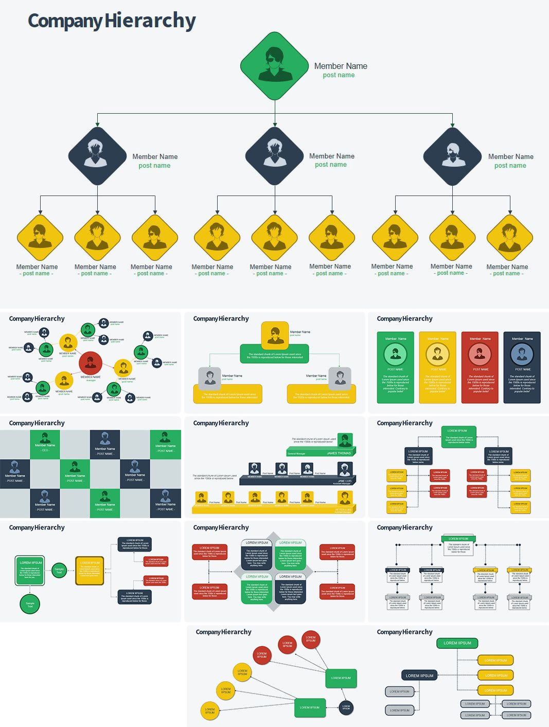 Organization Structure Powerpoint Charts With Images