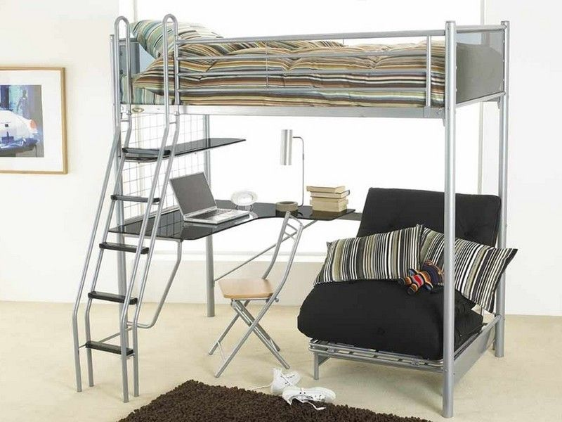 Best Bunk Bed With Futon On Bottom And Desk Loft Beds For 400 x 300
