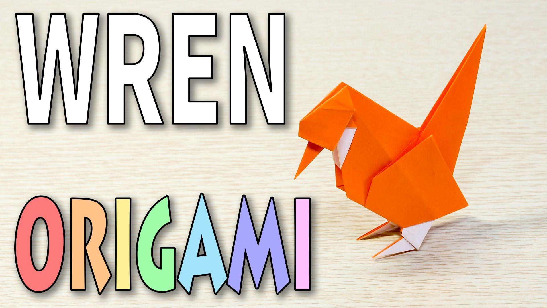 Origami Bird : A WREN | ORIGAMI TUTORIALS 3 | Paper crafts