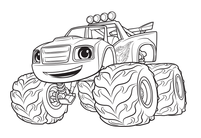 Monster Machine Coloring Pages Blaze Cookie Designs Coloring