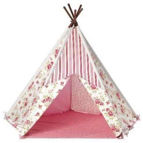 Tobs pink floral wigwam teepee childrens play tent. indoor or outdoor fun  sc 1 st  Pinterest : childrens play tents uk - memphite.com