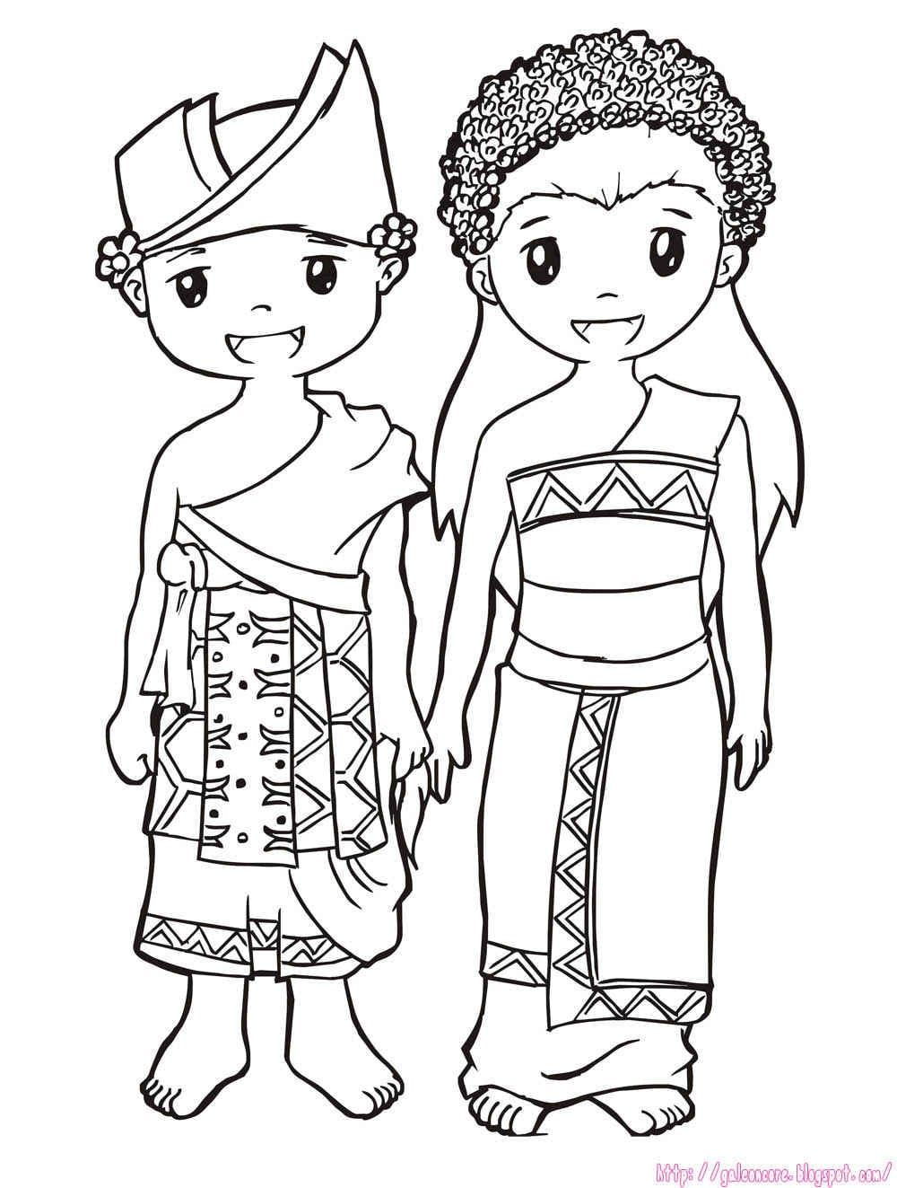 155 Gambar Mewarnai Pakaian Adat Jawa Barat 2018 Dan Baju
