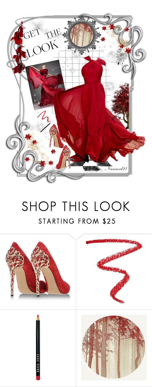 """Red passion..."" by nannerl27forever ❤ liked on Polyvore featuring Casadei, NARS Cosmetics and Bobbi Brown Cosmetics"